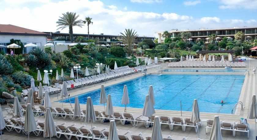 בריכת שחייה ונוף מלון